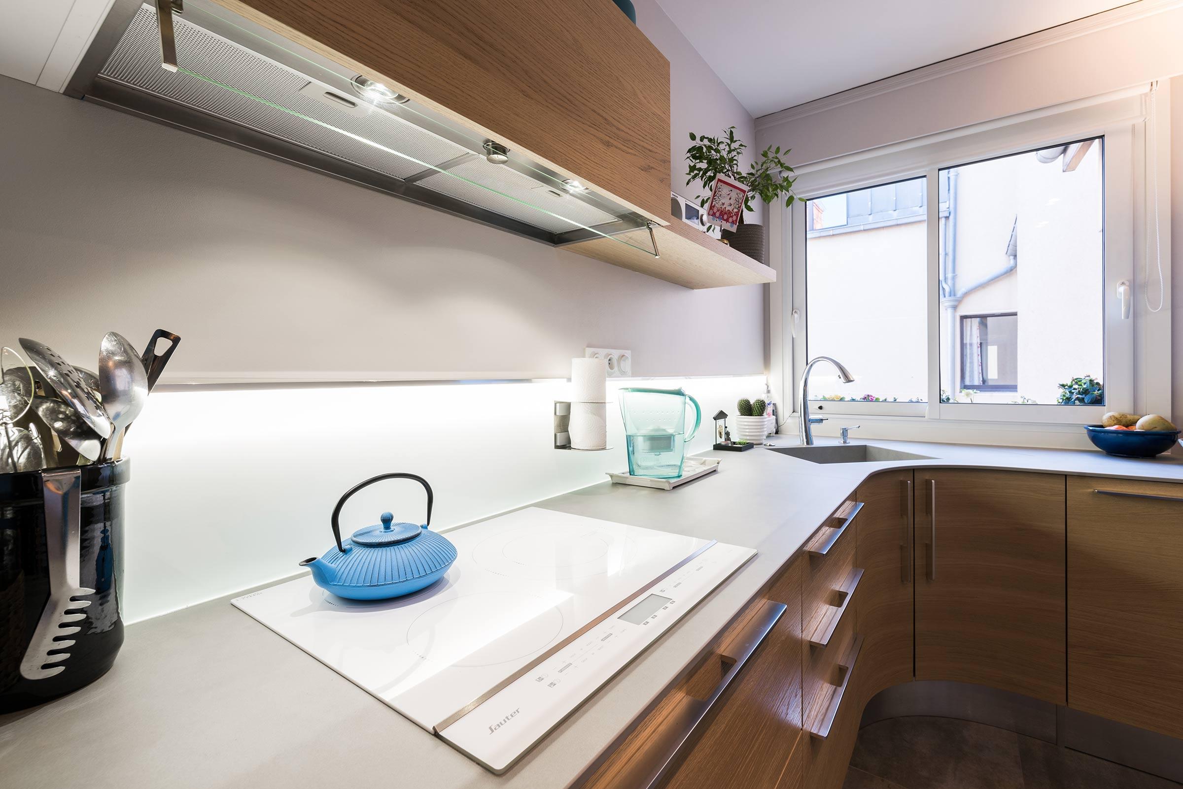 R novation d 39 une cuisine ronde aux brotteaux lyon - Renovation cuisine lyon ...