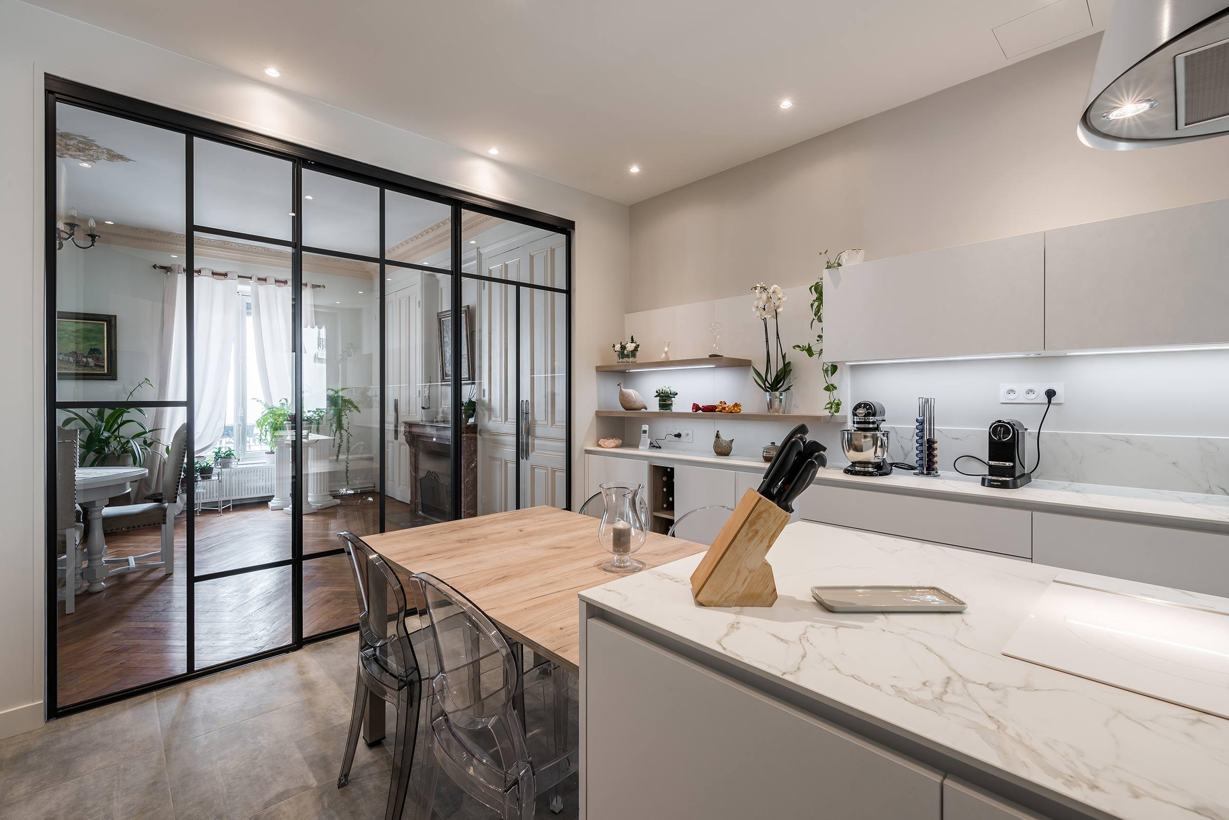 Rénovation complète d\'une cuisine avec verrière à Lyon 6 ...