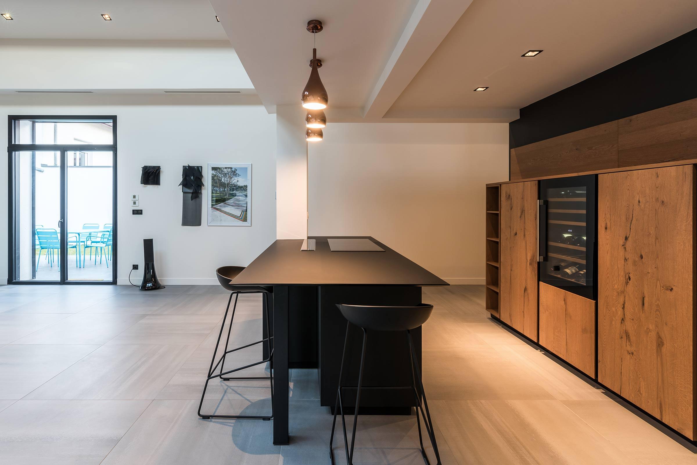 aménagement cuisine loft villeurbanne