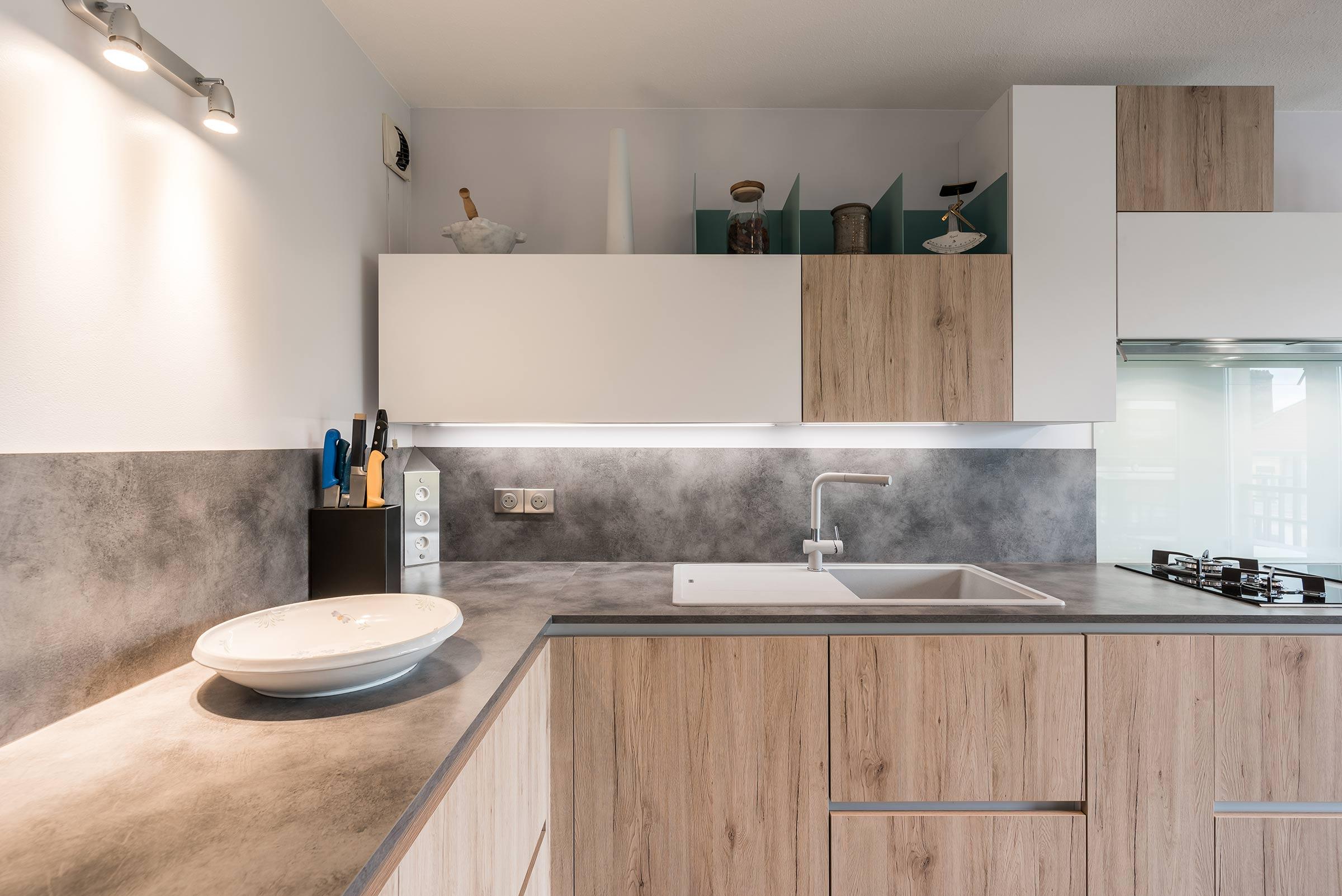 rénovation d'une cuisine scandinave à lyon 3